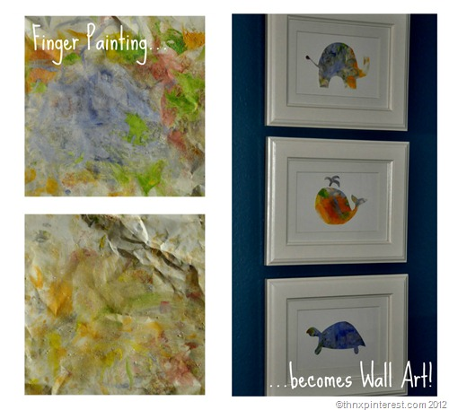 Finger Painting becomes Wall Art